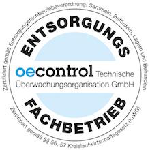 oecontrol-Zertifizierung der Firma Winzler GmbH